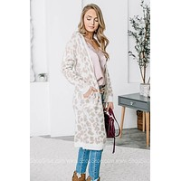 Fuzzy And Soft Cheetah Cardigan | Beige