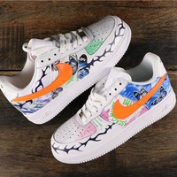 Nike Air Force 1 AF1 Low Graffiti Fashion Sneakers - Best Online Sale