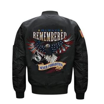 Never Men's Bomber Pilot Jacket