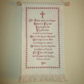 Free shipping Worldwide DMC finished cross stitch Christianity Our God in english