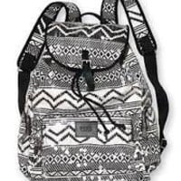 Victoria's Secret Black and White Lined Bling Sequined Backpack