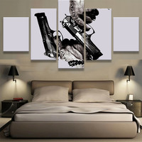Large Framed Boondock Saints Gun Canvas Print