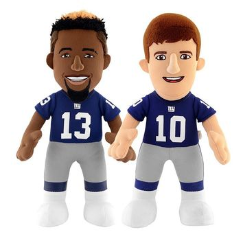 Bleacher Creatures New York Giants Odell Beckham Jr. & Eli Manning Plush Player Set, Size: One Size (Gia Team)
