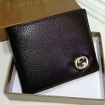 Gucci Men Wallets Leather Male Purse Small Wallets Money Bag G-LLBPFSH