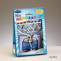 "Menorah Mini Set, Alum, W/44 Mini Candles, 4""X5"", Color Box"