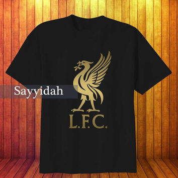 Liverpool Fc Gold , T-Shirt Beautyful Design By : Sayyidah
