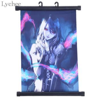 Lychee Japanese Anime Tokyo Ghoul Red Eyes Wall Poster Canvas Scroll Painting Home Wall Print Modern Art Decor Poster
