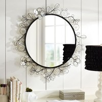 Capiz Wire Large Mirror
