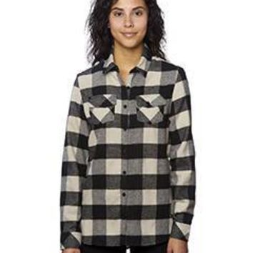 Burnside - Ladies' Plaid Boyfriend Flannel Shirt