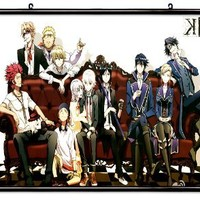 """K Project Anime Fabric Wall Scroll Poster (32"""" X 18"""") Inches"""