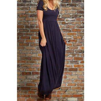 Favorite  Navy Maxi Dress