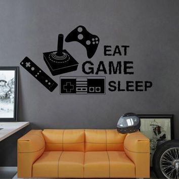 ik2548 Wall Decal Sticker joystick controller Xbox 360 Game PS4 player bedroom teens