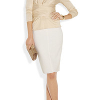 Issa | Wrap-effect silk-jersey top | NET-A-PORTER.COM