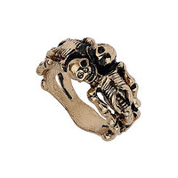 Sleeping Skeleton Ring