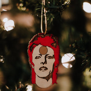Ziggy Stardust Rear View Hanging, David Bowie Ornaments, Tree Decoration Gift