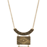 Ancient Cosmos Necklace Set - Gold