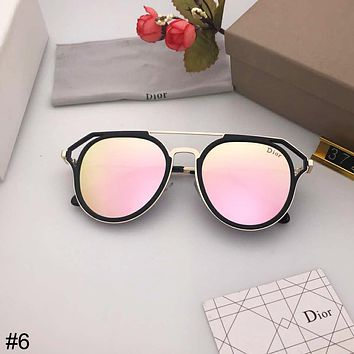 DIOR trend light open personality retro men and women models polarized color film sunglasses #6