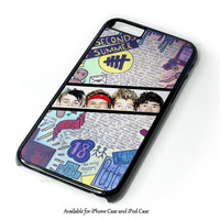 5 Seconds Of Summer Drawing iPhone 4 4S 5 5S 6 6 Plus Case and iPod Touch 4 5 Case