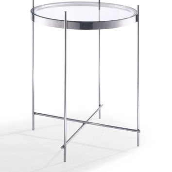 Coco Side Table round clear glass
