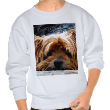 Cute Yorkshire Terrier Dog Pull Over Sweatshirts