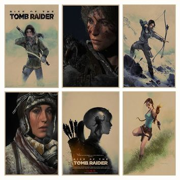 Rise of The Tomb Raider Game retro Poster Retro Kraft Paper Bar Cafe Home Decor Painting Wall Sticker
