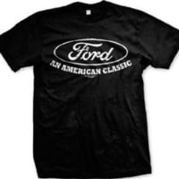 Ford An American Classic Mens T-shirt, Officially Licensed Ford Men's Tshirt, Medium, Navy