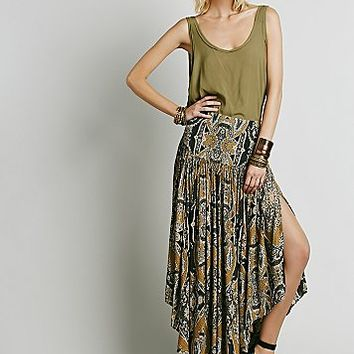 Free People Womens Bold As Love Printed Maxi