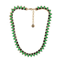 House of Harlow 1960 Wren Feather Collar Gold Tone/Malachite/Black - Zappos.com Free Shipping BOTH Ways