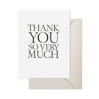 """Thank you so very much"" note cards"