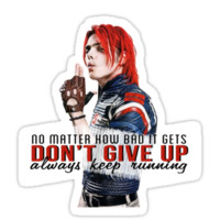 Gerard Way quote #1 (on black)