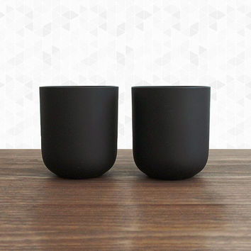 Matte Black Glass Cup