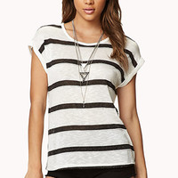 Striped Slub Knit Top