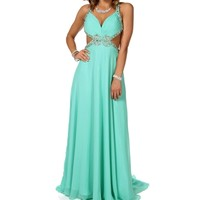 Pre-Order: Acacia- Mint Long Prom Dress