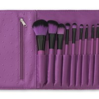 10 pc Orchid Makeup Brush Set