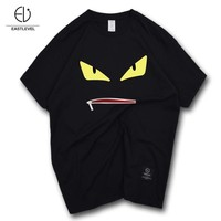 Short Sleeve Innovative Strong Character Cotton Round-neck Sports T-shirts [10657813635]