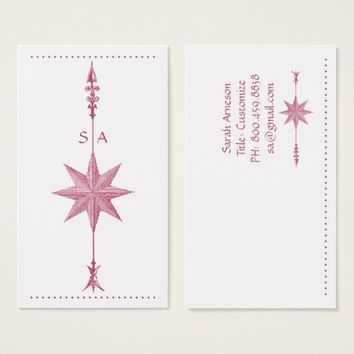 Compass Rose Arrow Business Card