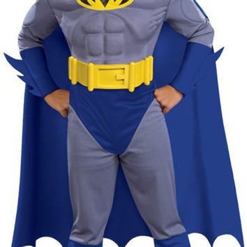 batman brave & bold deluxe m/c batman toddler / child costume - small (4/6)