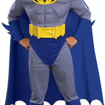 batman brave & bold deluxe m/c batman toddler / child costume - large (12/14)