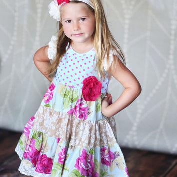 Giggle Moon Living Water Party Dress in Toddler