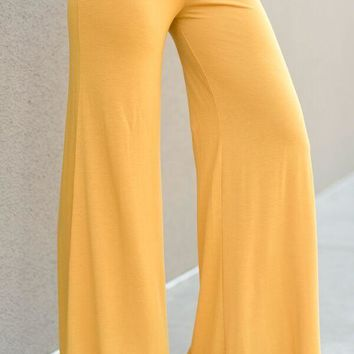 Love Me Wide Leg Pants - Mustard