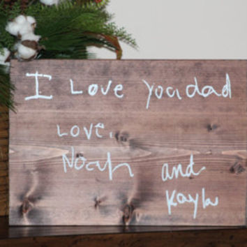 Large Custom Handwriting Wooden Sign - Memorial Keepsake Wooden Sign - Remembering Loved Ones Keepsake - Custom Vinyl Sign