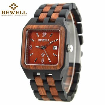 BEWELL Sandalwood Watch with a blend of classic and modern style