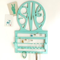 Script Monogram Wall Jewelry Storage