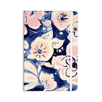 "Crystal Walen ""Midnight Moon Flower"" Blue Pink Everything Notebook"