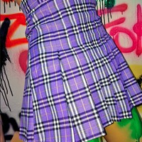 SWEET LORD O'MIGHTY! CHECKERED TENNIS SKIRT IN PURPLE