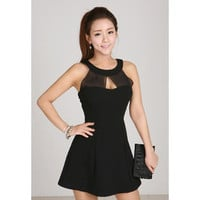 Black Sleeveless Mini Dress