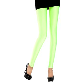 Solid Color Leggings - Lime Green
