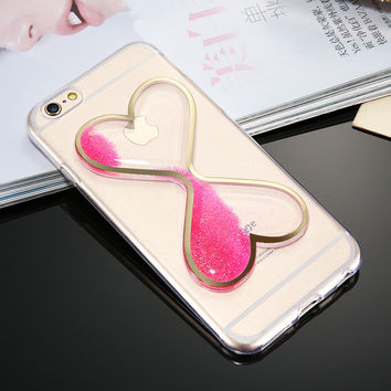 KISSCASE Cover For iPhone 6 6S iPhone 7 Plus Case Glitter Quicksand Transparent Phone Cases For iPhone 7 6 6S Girly Accessories