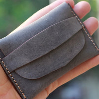 Card wallets for women / credit card holder / women leather wallet / slim minimalist / modern design / powder grey wallet