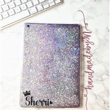Glitter iPad case Pro 9.7/10.5/12.9 case iPad Mini 1/2/3/4 case iPad Air 1/2 case iPad Sleeve Cover Samsung galaxy tablet Phone case